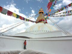 結構な大きさ、ネパール最大のストゥ―パ。