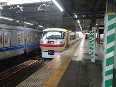 飯能駅での西武特急ちちぶ。私はこれには乗らず、各駅停車を使いました。