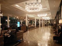 やって来ました、目的地、 フラートンベイホテルです。