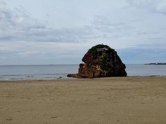 稲佐の浜。 ここから神様たちが来て、出雲大社に向かうそうです。
