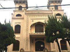 12:30 神戸ムスリムモスク到着。1935年に建てられた日本最古のモスクである。 https://ja.m.wikipedia.org/wiki/神戸モスク