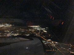 オークランド上空…久し振りの夜景(笑)