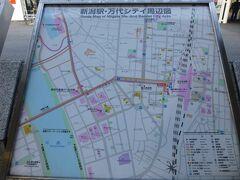 結構歩いて疲れたので「古町」からバスに乗って「新潟駅」。 やはりバスは楽で速い。時刻表見ていなかったけれど割りとすぐに 新潟駅行きが来たので便数多めの様子。