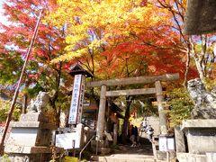 まず向かったのはこちらの神社。1つの神社が長野と群馬の県境にまたがっており、長野側は熊野皇大神社、群馬側は熊野神社として、2つの宗教法人に分かれて維持されている珍しい神社です。  日本武尊がこの地で濃霧で迷ってしまった時に、八咫烏が現れ、紀州熊野の椰木(なぎ)の葉をくわえ、落としながら先導し、日本武尊は頂上まで登ることができた。この導きを熊野神霊の御加護によると考え、ここに熊野三社を祀ったと伝えられているそう。