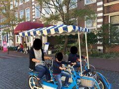 ホテルアムステルダム前を巡回中。