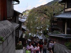 清水寺へ向かう途中にあるお土産さんやお茶屋さんなどを覗きつつ、ゆっくり歩いて…。