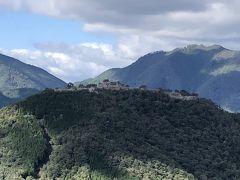 立雲峡 から竹田城跡を見る