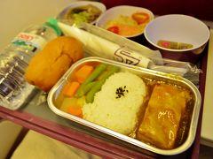 機内食はタイ料理を選択するも中華っぽい