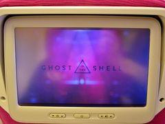 機内では映画Ghost in the Shellを鑑賞。