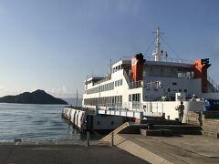 ホテル発7:30のバスで宇野港へ  フェリー乗り場から8:22発に乗船