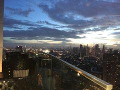 高層階なのに、手すりも低くくて こちらが大丈夫?と思ってしまうほど開放的でした  日本のデパート屋上のビアテラスよりも自由な感じです。