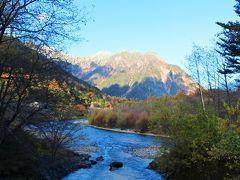 途中の穂高橋から梓川と明神岳と前穂高岳の姿が見えた。