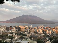 城山展望所から見える桜島です。