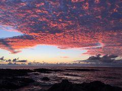 赤崎海岸で朝陽を見る