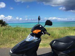 舟倉海岸、皆田海岸、黒花海岸、寺崎海岸、トゥマイ、宇勝海岸、品覇海岸、アイギをスクーターで回る。
