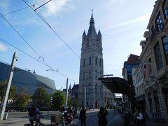鐘楼。 塔の高さ91mでゲントの繁栄のシンボルだそうだ。
