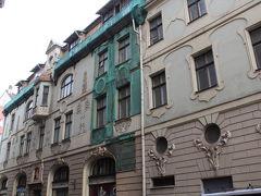 旧市街のユーゲントシュティール建築。