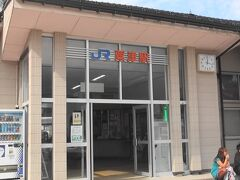 粟津駅は小さな駅です。