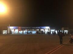 19時半にカッパドキアのネヴシェヒル空港に到着。