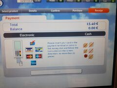 ブリュッセル中央駅で、アントワープまでのチケットを7.7ユーロ/人で購入