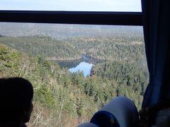 双湖台からペンケトー(四角に見える湖) 一旦停車のみ