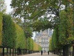 橋を渡ってチュイルリー公園(Jardin des Tuileries)に来ました。  ヴェルサイユ宮殿の庭園を設計した造園家アンドレ ル ノートル によるフランス式庭園です。