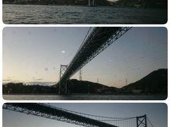 2年前に同じ阪急交通社のツアーで山口県に行きました。 その時陸から関門橋を初めて見て、そしてすぐそこに九州がある(見える)のを見て、すごく興奮しました。 嬉しいな嬉しいなヽ(^。^)ノ 船でくぐりましたーヽ(^。^)ノ