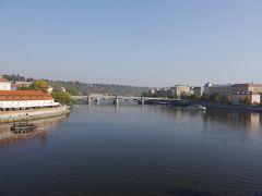 カレル橋から見たヴルタヴァ川