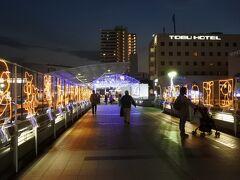 イルミネーションは上尾の冬の代表的なイベントの一つ。 点灯期間は11/17~1/7。