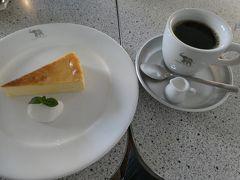 チーズケーキとブレンドコーヒー。