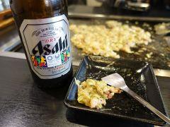 その後でもんじゃ焼きを食べ、ビールでしばし休憩しました。 ビールにはオリンピックのマークがついています。 またオリンピックの年に東京へ来ましょうかね??
