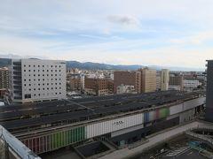 部屋から奈良駅が見えます。橋上駅舎になってあまり特徴がない感じ