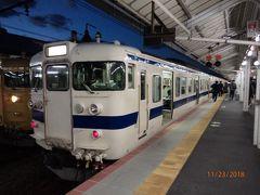 門司駅からはこちらの列車でお隣の下関駅まで移動します。