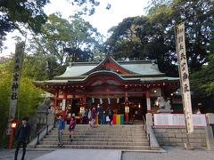 来宮神社。たくさんの観光客が訪れていました。