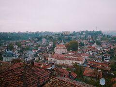 街を一望できるフドゥルルックの丘へ。 小雨です。  ちなみにトルコに来る前に見ていた天気予報ではほぼ雨。 移動しても雨。 ぱきっとしたあの青い空を期待していたのに…