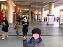 【近鉄奈良駅】 京都から近鉄特急に乗って、30分程度で近鉄奈良駅に9時過ぎ到着。近鉄奈良駅は地下にホームがあり、エスカレーターで上がった1階に改札がありました。