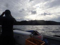 午後3時半。 恩納村の真栄田岬でダイビング。