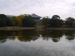 大仏池越しの大仏殿。
