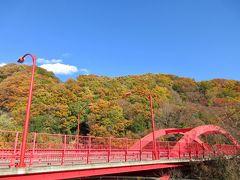 高津戸峡もオレンジの山