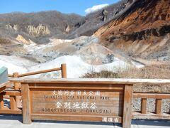 有名な地獄谷はすぐ現れました。 広大な広さでびっくりです。 来てみたかったんですよね、来れてよかったです。