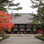 唐招提寺 金堂 紅葉がきれい。この旅で1番いい写真(*´ω`*)
