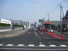 大根島~江島へ進み、23kmには、「江島大橋」こと通称「ベタ踏み坂」が見える。大会コースではないので、写真だけ撮影。