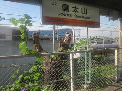"""で、信太山駅に到着。  余談ですが、この駅名、個人的にはつい最近まで""""のぶたやま""""って読んでました。 信太=野豚、のイメージで、豚丼が食べたくなるブー!   続・何のこっちゃ…。"""
