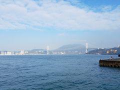 当初、関門海峡地下道で本土に渡る予定だったが、関門連絡船で唐戸に渡る事にします。