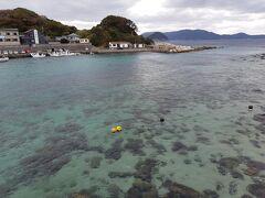2日目 柏島へ 曇り空で風が強かったため、イマイチでしたが、それでもきれいな海の色