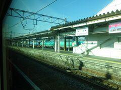 篠ノ井駅に停車。