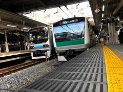 品川から山手線で大崎駅へ。  大崎からは埼京線に乗ります。  山手線でそのまま池袋に行っても良いのですが、なんとなく埼京線に乗りたい気分でした(笑)  埼京線沿線で花火大会があるようで、浴衣姿の多くの乗客で車内は混雑していました。  花火大会いいですねぇ()