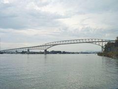 全景を見ると、巨大で美しい橋です。