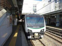 列車はここで進行方向を変えて、大糸線に入っていきます。