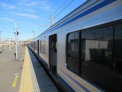 久里浜駅は横須賀線の終点です。